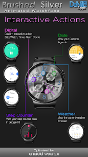 Brushed Silver HD Watch Face Widget Live Wallpaper 5.1.0 Mod APK Latest Version 3