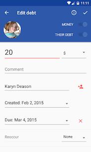 IOU Pro – debt manager 5