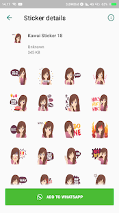 Kawaii Anime Stickers  for WhatsApp Screenshot