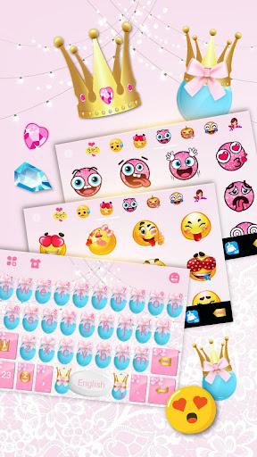 pink cute princess keyboard theme screenshot 2