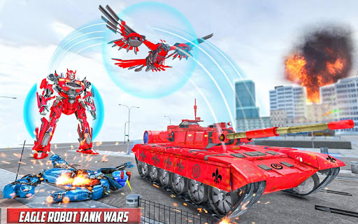 Tank Robot Game 2020 - Eagle Robot Car Games 3D 1.1.0 screenshots 1