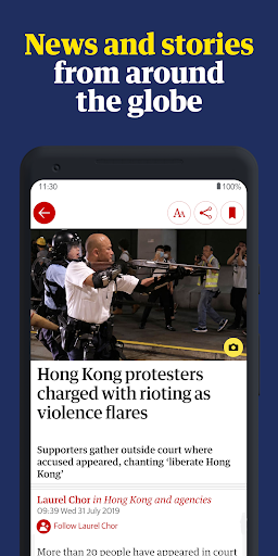 The Guardian - Live World News, Sport & Opinion screen 1
