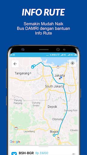 damri apps screenshot 2