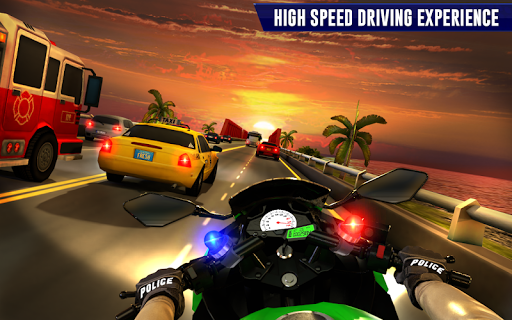 Police Moto Bike Highway Rider Traffic Racing Game  Screenshots 12