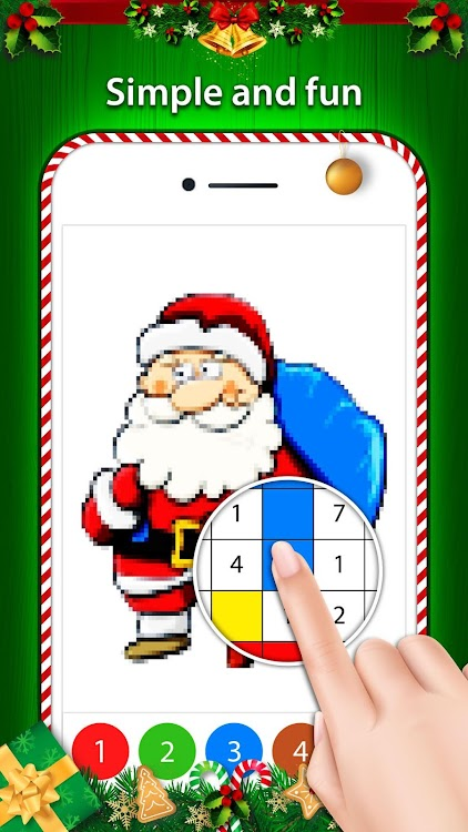 Christmas Pixel Art Color By No Coloring Pages Android Apps Appagg