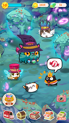 Fancy Cats - Cute cats dress up and match 3 puzzle  screenshots 1