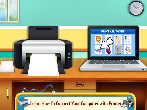 Printer Machine & Scanner Learning Simulator apklade screenshots 2