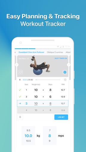 JEFIT Workout Tracker, Weight Lifting, Gym Log App 10.80 Screenshots 3