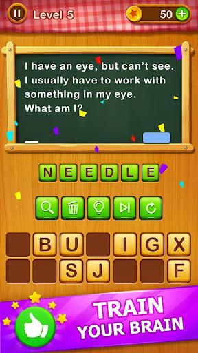 Word Riddles - Free Offline Word Games Brain Test 2.1 screenshots 3