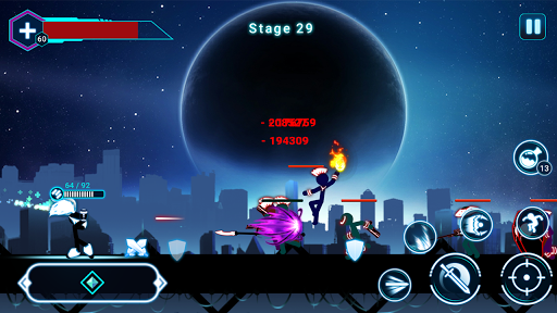 Stickman Ghost 2: Galaxy Wars - Shadow Action RPG 6.6 screenshots 5