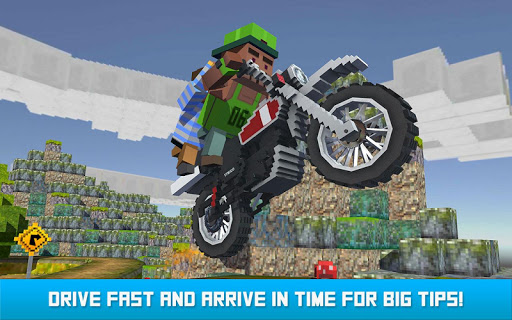Blocky Moto Bike SIM: Winter Breeze android2mod screenshots 3
