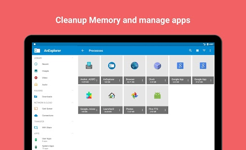 File Manager Pro Android TV USB OTG Cloud WiFi Screenshot