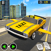 Modern Flying Muscle Car Taxi Simulator