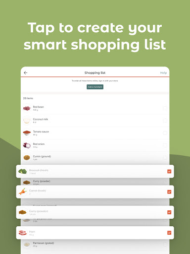 JOW: personalized recipes & groceries android2mod screenshots 11