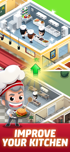 Idle Restaurant Tycoon - Build a restaurant empire apktreat screenshots 2