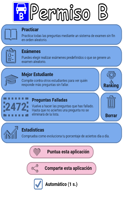 Examen Teorico Coche Carnet B Conducir Espana Dgt Android Aplikasi Appagg