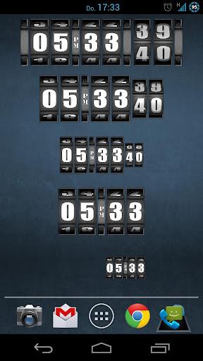 3D Rolling Clock BLACK Screenshot 2