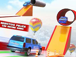 Mega Ramp Police Car Stunt Games: Ramps Car Games