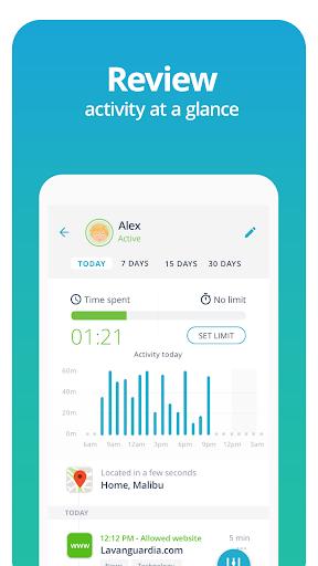 Qustodio Screen Time Control & Family Locator modavailable screenshots 4