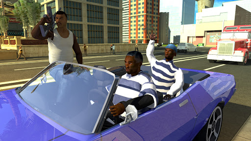 San Andreas Auto Gang Wars: Grand Real Theft Fight  APK MOD (Astuce) screenshots 1