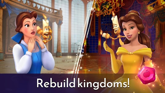 Disney Princess Majestic Quest: Match 3 & Decorate APK, Disney Princess Majestic Quest Mod Apk ***NEW 2021*** 5