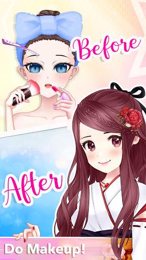 Anime Dress Up Queen Game for girls  screenshots 3