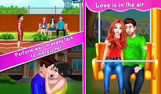 Nerdy Boy's First Love Crush game story Screenshot