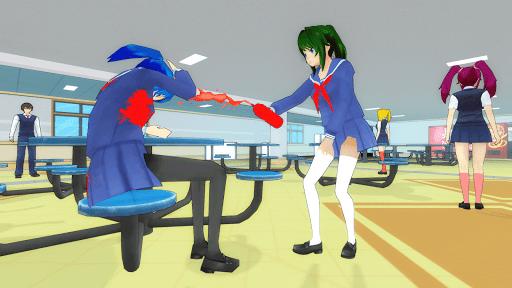 Anime High School Girl 3D Life - Yandere & Sakura apkpoly screenshots 8