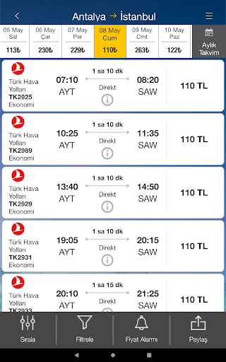Ucuzabilet - Flight Tickets 3.1.8 Screenshots 11