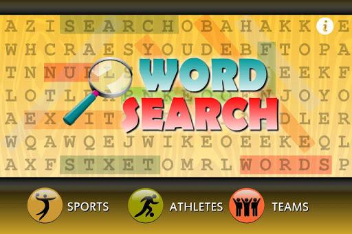 word search sports team games screenshot 2