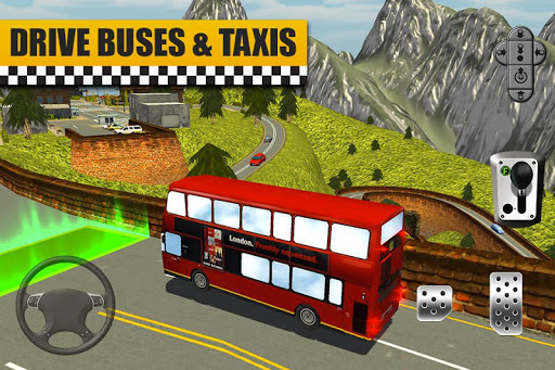 Bus & Taxi Driving Simulator  screenshots 3