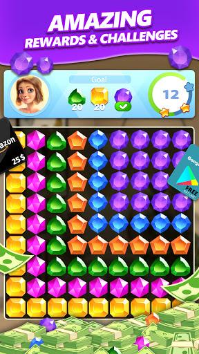 Jewel Blast & Diamond Crush Puzzle Game to BIG WIN android2mod screenshots 1