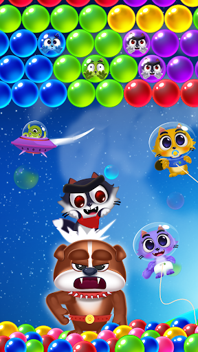 Space Cats Pop - Kitty Bubble Pop Games apkmr screenshots 1