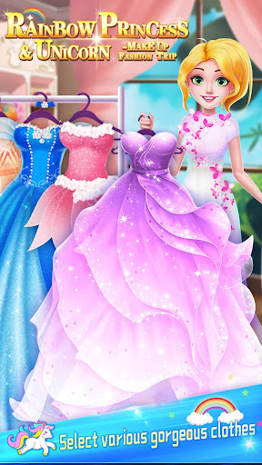 ud83dudc78Rainbow Princess & Unicorn Makeup - Fashion Trip 1.8.5038 screenshots 10
