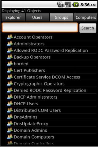 Screenshot 4 de ActiveDir Manager para android