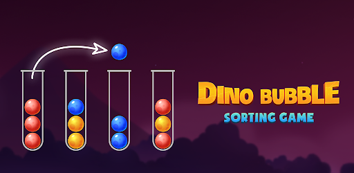 Color Ball Sort Puzzle - Dino Bubble Sorting Game