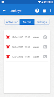 Lockeye : Wrong password alarm & Intruder selfie