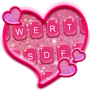 Glitter Heart Emoji Keyboard