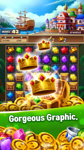 Jewels Fantasy Crush : Match 3 Puzzle apkpoly screenshots 6