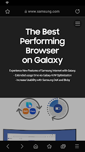 Samsung Internet Browser Capture d'écran
