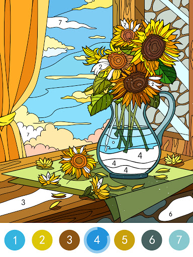 Coloring - color by number 1.1.7 screenshots 16