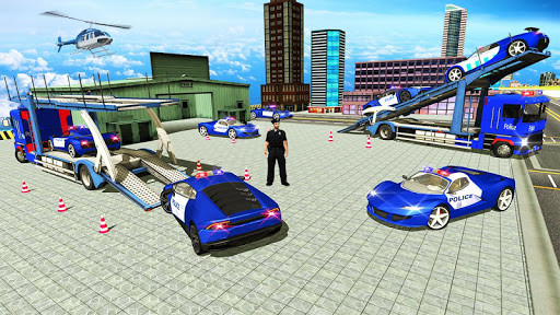 Police Car Transporter 3d: City Truck Driving Game 3.0 screenshots 2