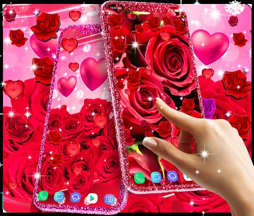 Red rose live wallpaper apktram screenshots 2