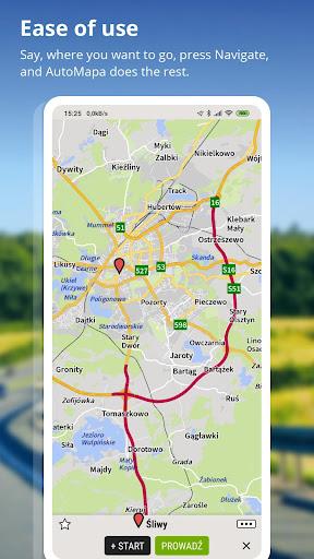 AutoMapa - GPS navigation, CB Radio, radars 5.8.5 (3442) Paidproapk.com 3
