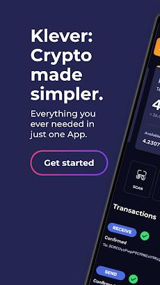 Klever Wallet: Buy Bitcoin, Ethereum, Tron, Cryptoのおすすめ画像1