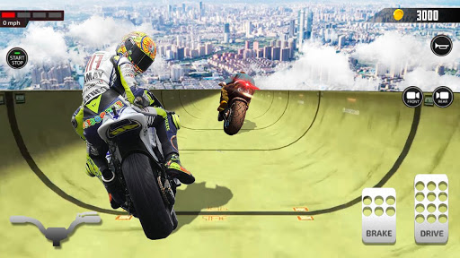 Impossible Mega Ramp Moto Bike Rider Stunts Racing  screenshots 12