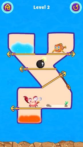 Fish Pin - Water Puzzle & Pull Pin Puzzle apktram screenshots 15