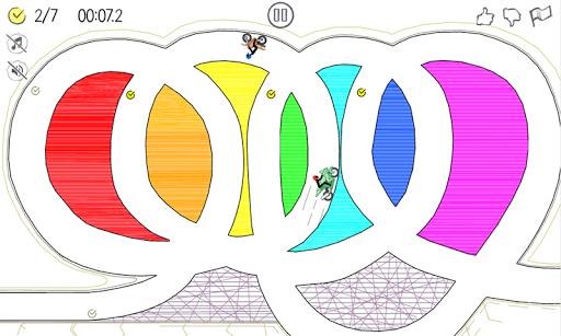 paper racer - stickman racing screenshot 1