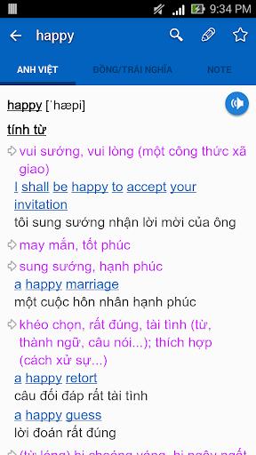 Dich tieng Anh - Tu dien Anh Viet TFlat 7.6.5 screenshots 2