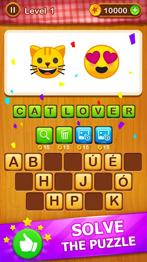2 Emoji 1 Word - Guess Emoji Word Games Puzzle 1.7 screenshots 1